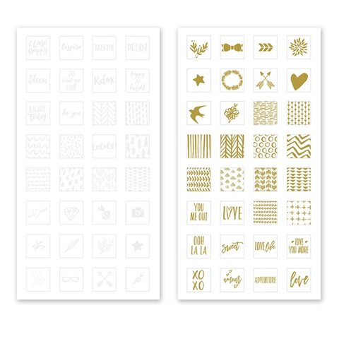Base & Bling Watercolor Stickers Bundle