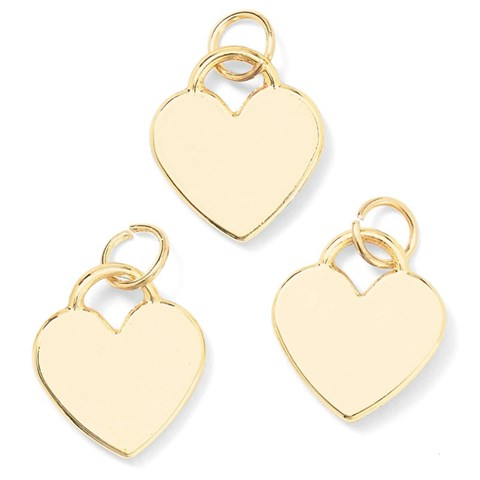 Base & Bling Heart Charm — Faux Gold