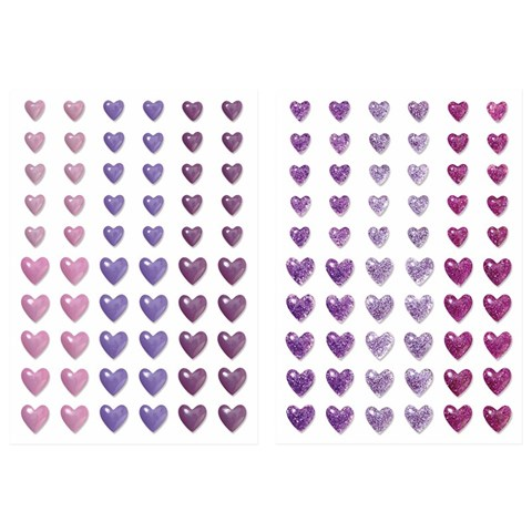 Enamel & Glitter Duos Purple Hearts