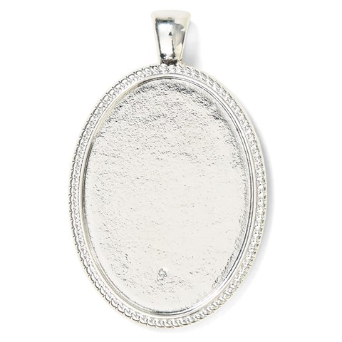 Base & Bling Oval Pendant — Faux Silver
