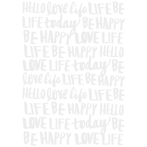 Happy Thoughts Embossing Folder