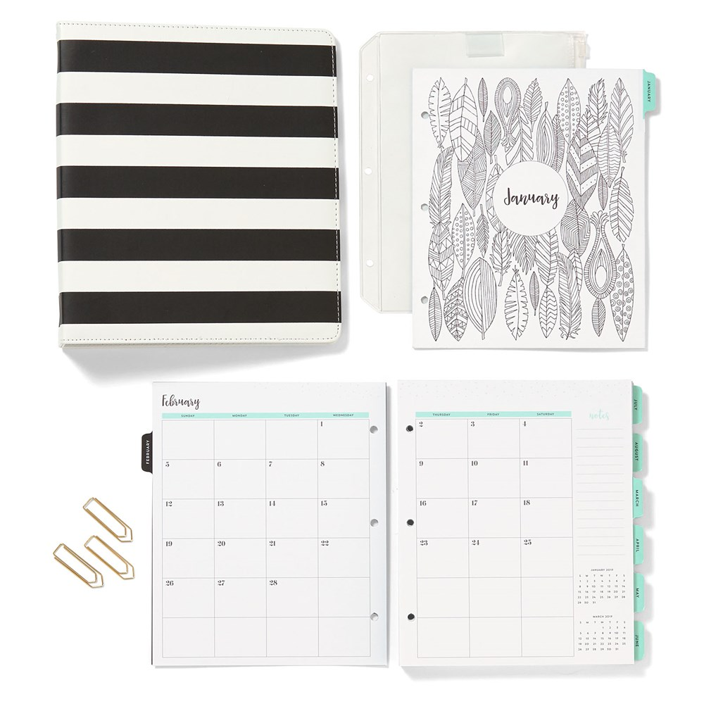 2017 Planner PlannerPages Coloring Calendar Pocket Scrapbook Scheduler Schedule