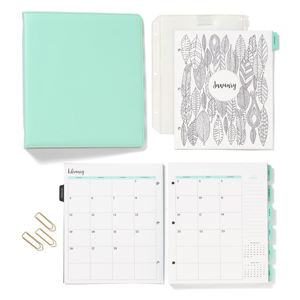 Calender Planner Pages Pocket Scrapbook Scheduler 2017 Plan Organize planneraddict plannergirl