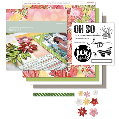July Scrap or Card Brushed