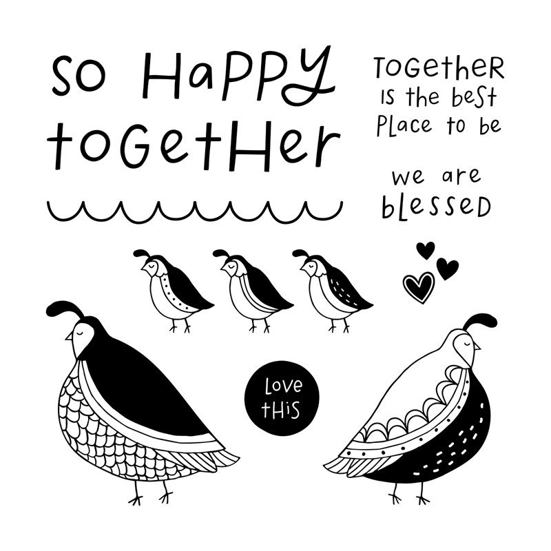 APRIL STAMP OF THE MONTH - FLOCK TOGETHER