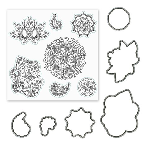 Ornate Blossoms Stamp + Thin Cuts