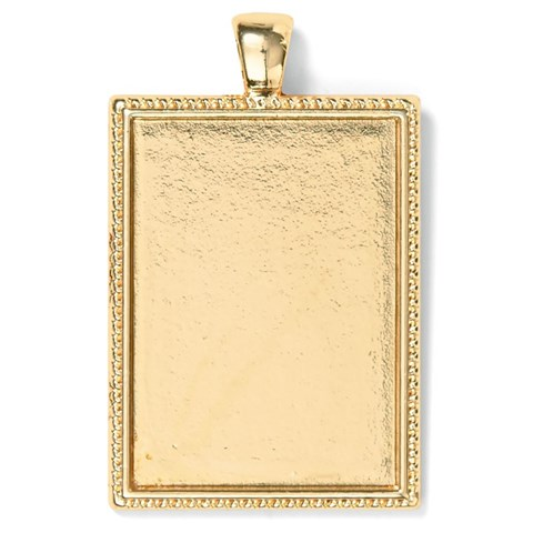 Base & Bling Rectangle Pendant — Faux Gold