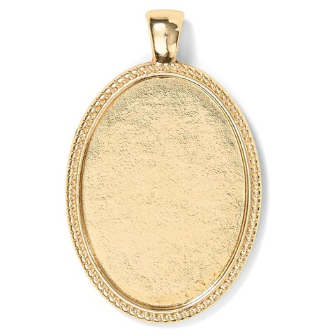 Base & Bling Oval Pendant — Faux Gold