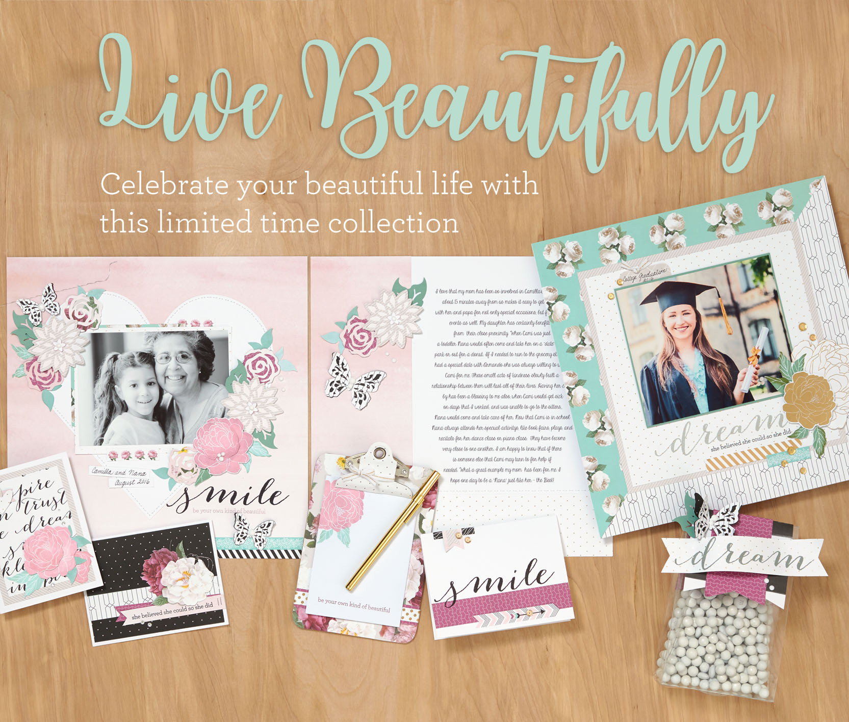 CTMH May Special - Live Beautifully products to celebrate National Scrapbooking Month!
