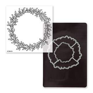 Wreath Stamp + Thin Cuts