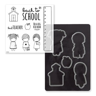 School Kids Stamp + Thin Cuts
