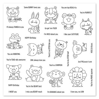 My Acrylix® Operation Smile™: Punny Pals stamp set