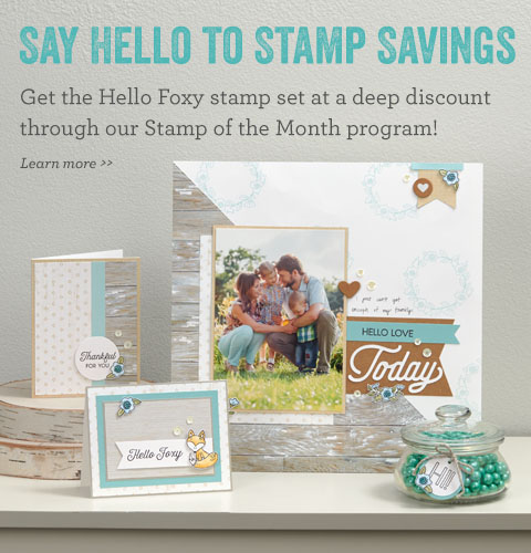 Hello Foxy stamp set