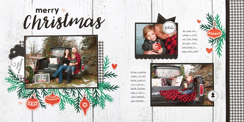 Christmas layouts, easy layouts, CTMH, Craft With Heart subscription, https://funn.closetomyheart.com/ctmh/products/craft-with-heart.aspx