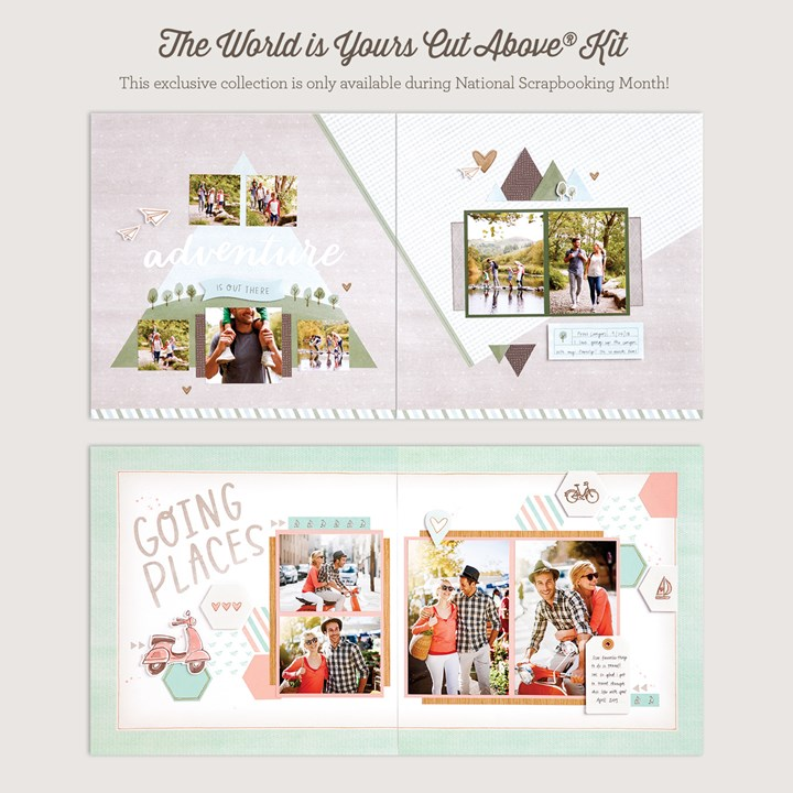 The World Is Yours Cut Above® layout kit
