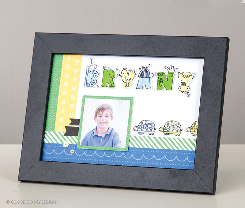 Illustrated Alphabet Stamp Set (E1044)
