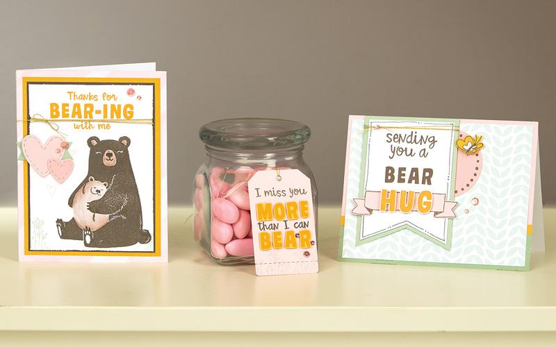Bear Hugs cards and tag