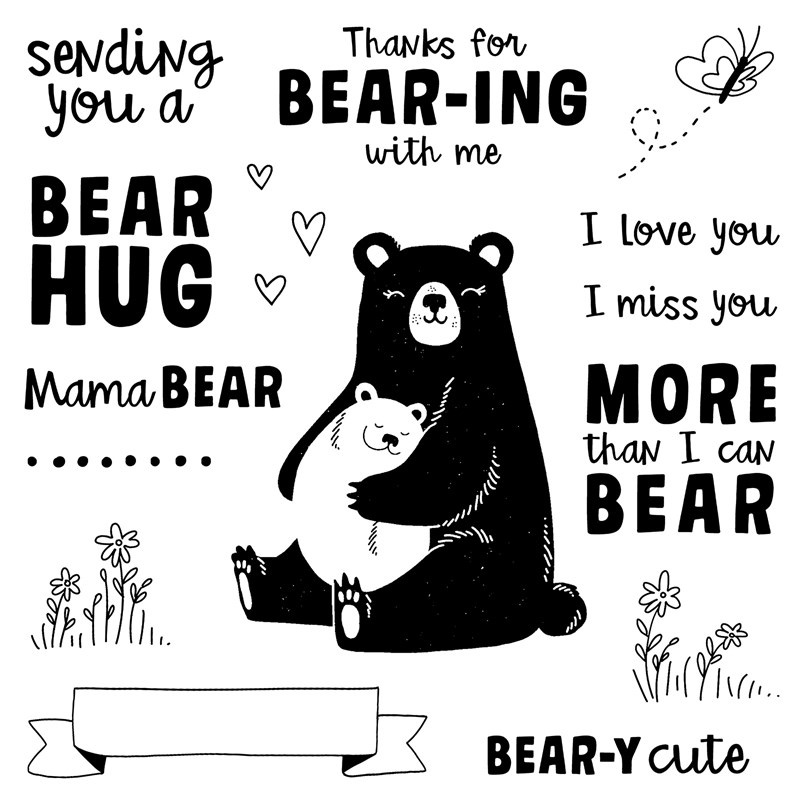 S1907: Bear Hugs, set of 17