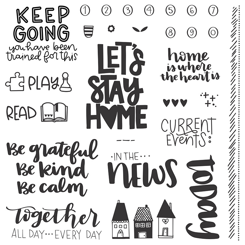Let's Stay Home Stamp Set
