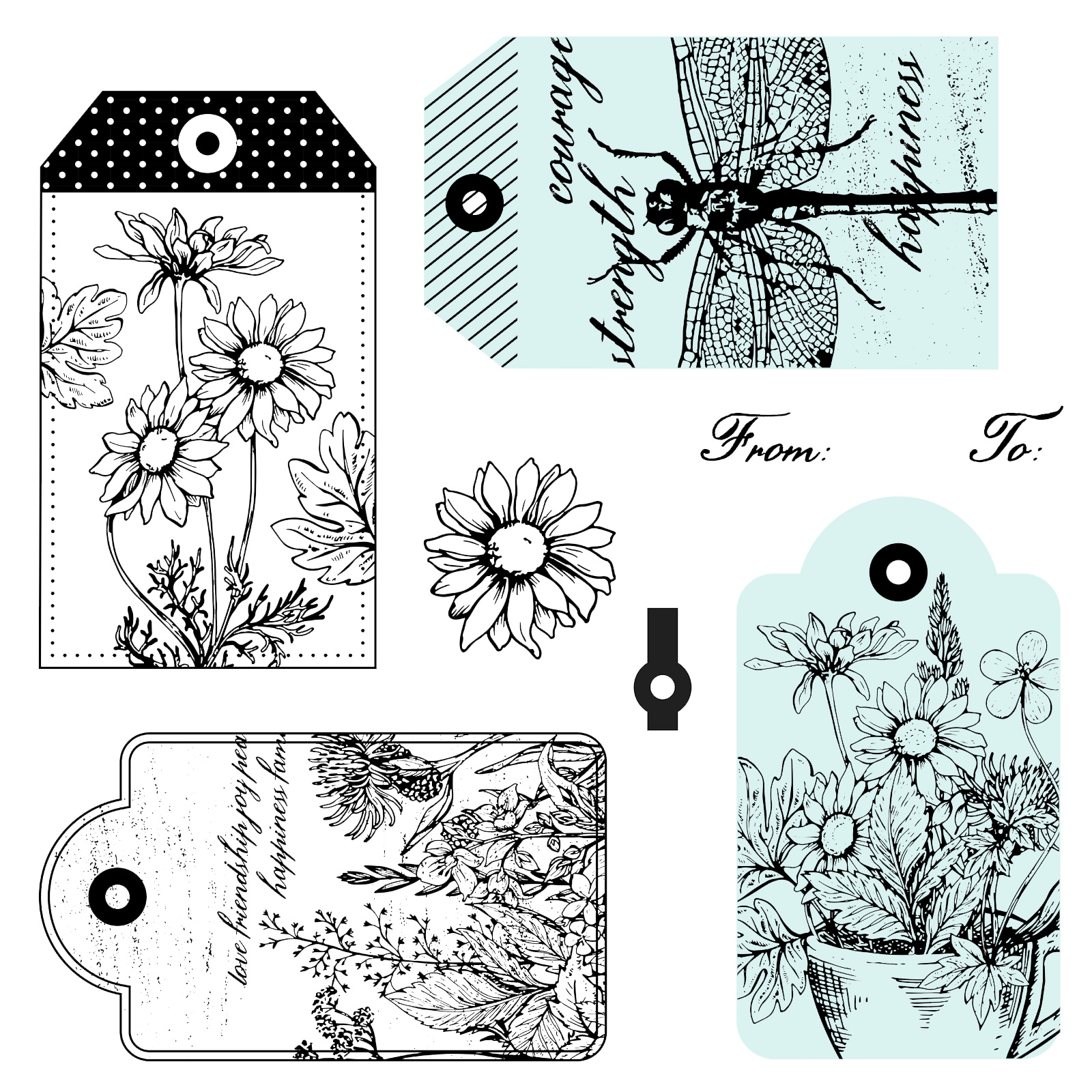 S2006: Garden Tags, set of 28