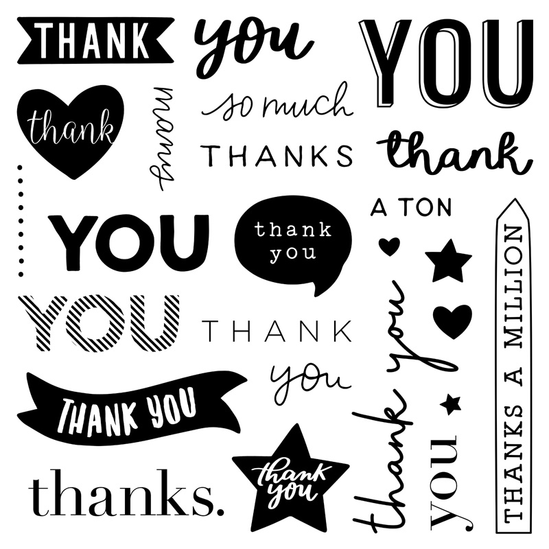 S2101: Every Thank You, set of 25