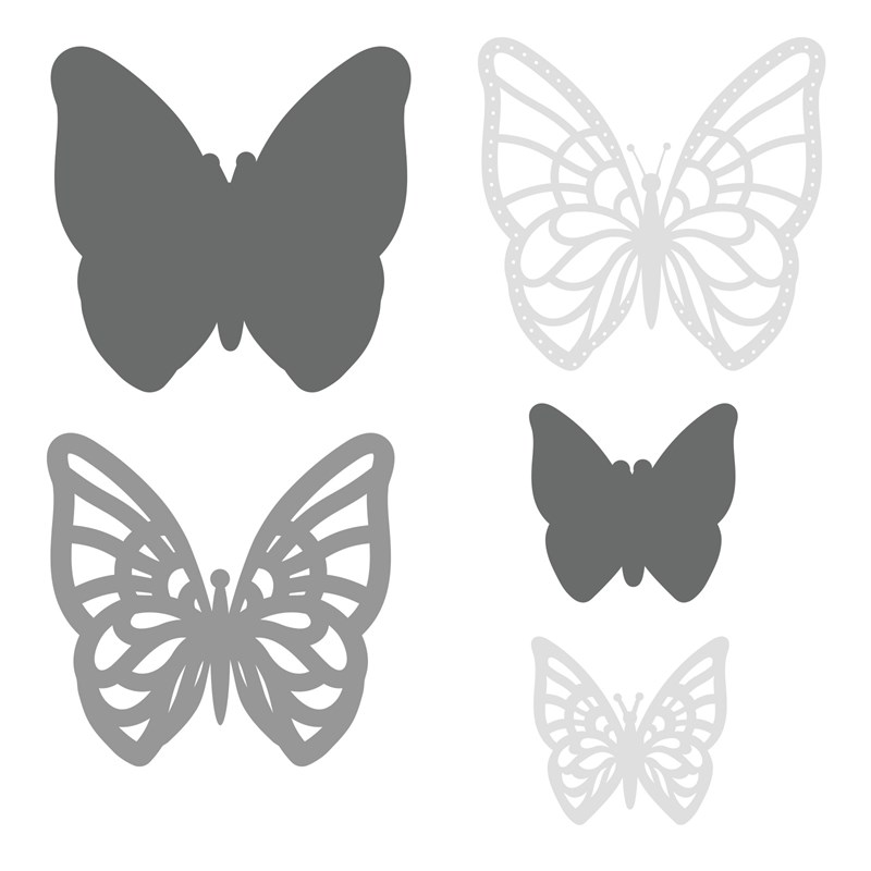 Layered Butterflies Thin Cuts