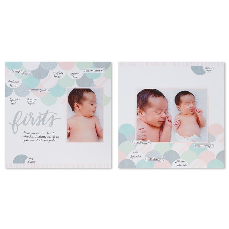 The Story Begins (Baby Girl) Cut Above® Layout Kit