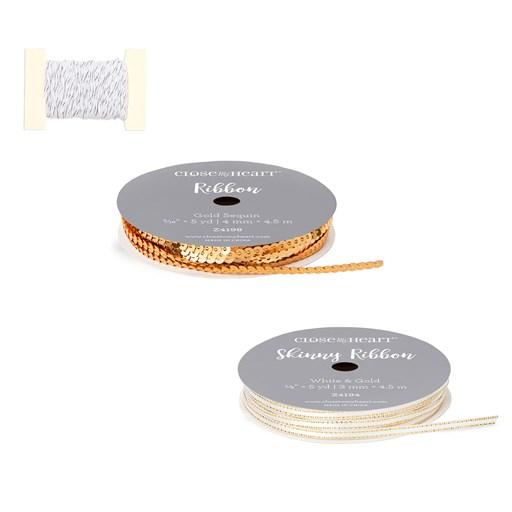 Gold & Bronze Ribbon & Twine Bundle (CC52025)