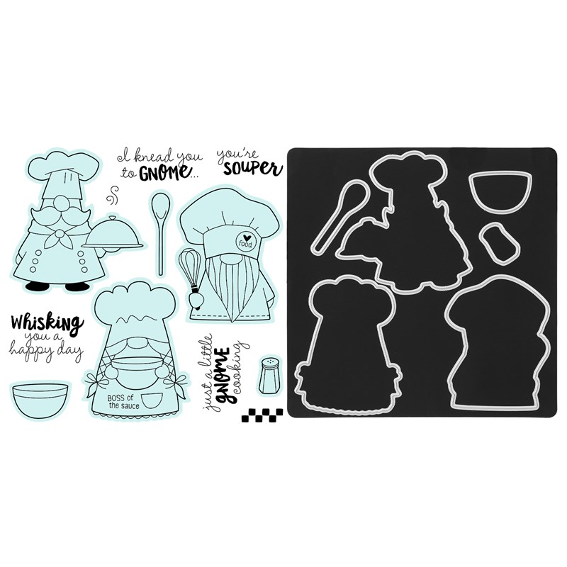 Kitchen Gnomes Stamp + Thin Cuts