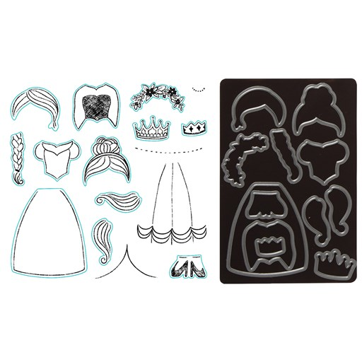 Paper Pal Princess Stamp + Thin Cuts (Z4075)