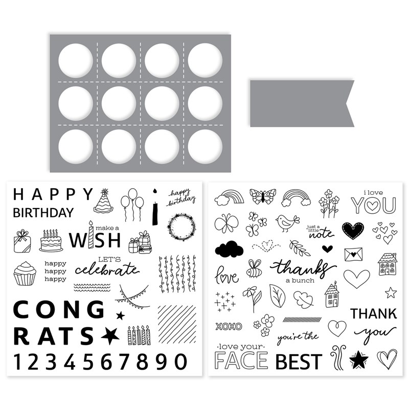 Share the Joy Stamps + Thin Cuts