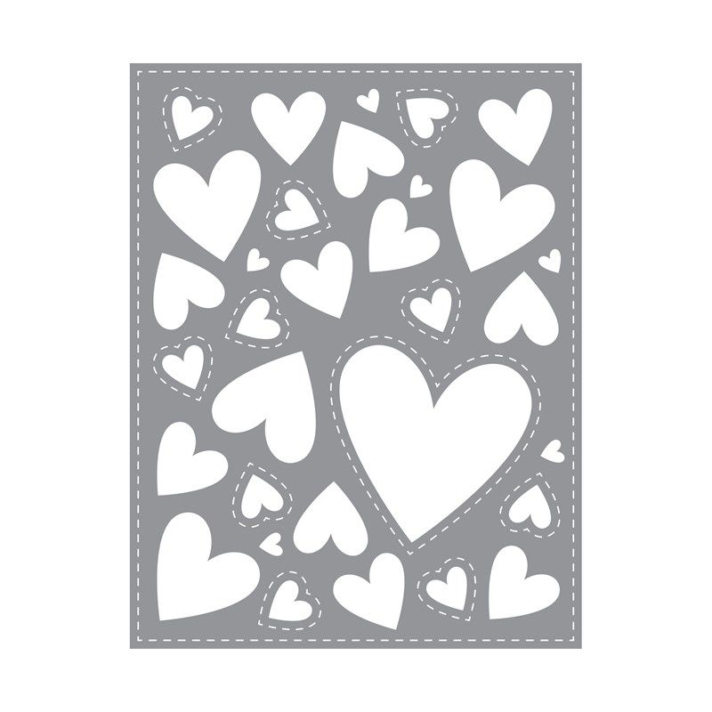 Hearts Background Thin Cuts