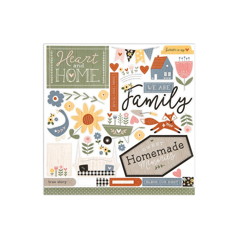 Hillside Cottage Paper Packet + Sticker Sheet