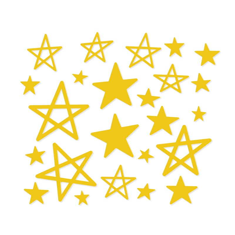 Yellow Acrylic Stars