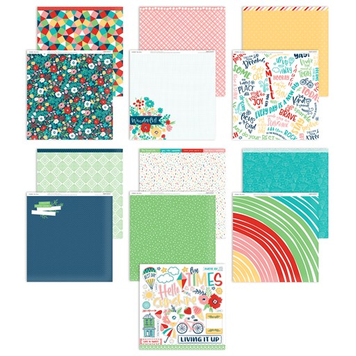 Blue Skies Paper Packet + Sticker Sheet (CC5205)