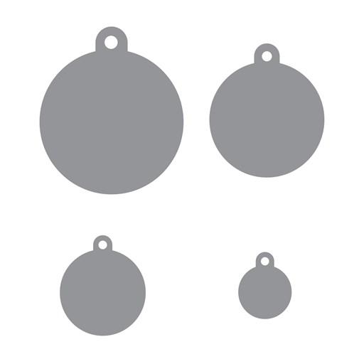 Basic Circle Tags Thin Cuts (Z4147)