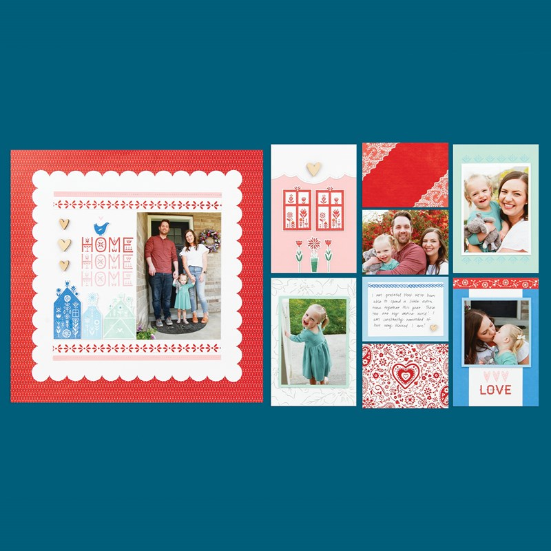 Scandinavian Folk Art Greetings—April Stamp of the Month