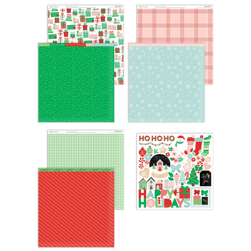 Holly Jolly Paper Packet + Sticker Sheet