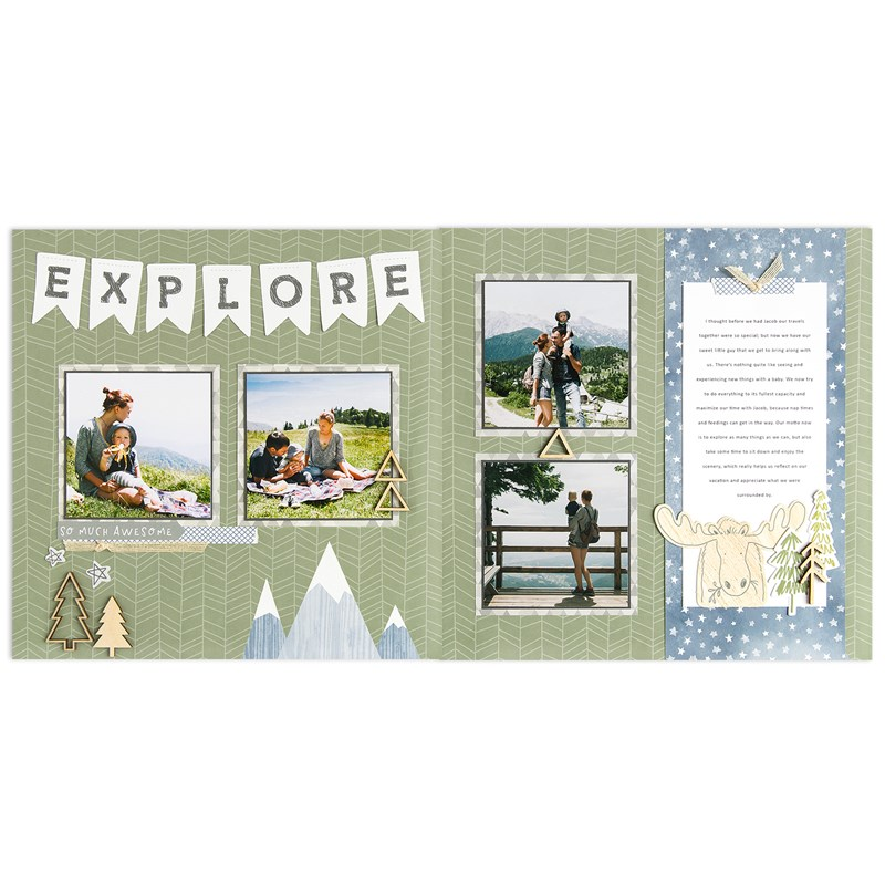Workshops Your Way® Into the Wild Scrapbooking Kit