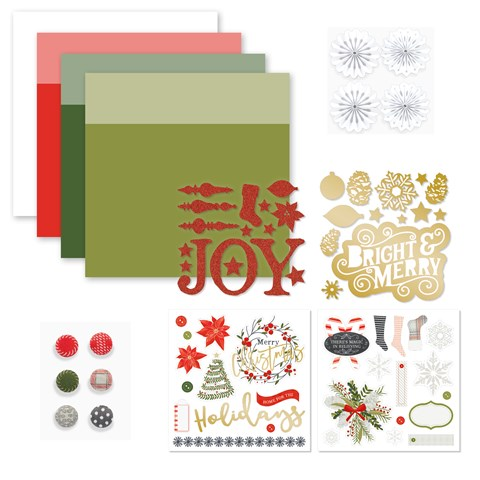 'Tis the Season Cardstock & Embellishments (CC121888)