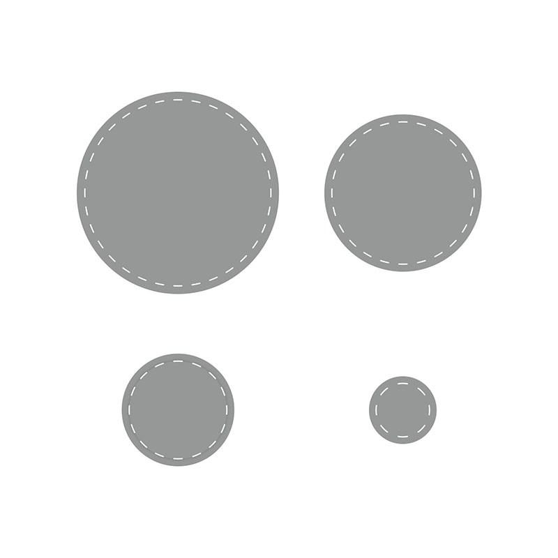 Stitched Circles Thin Cuts