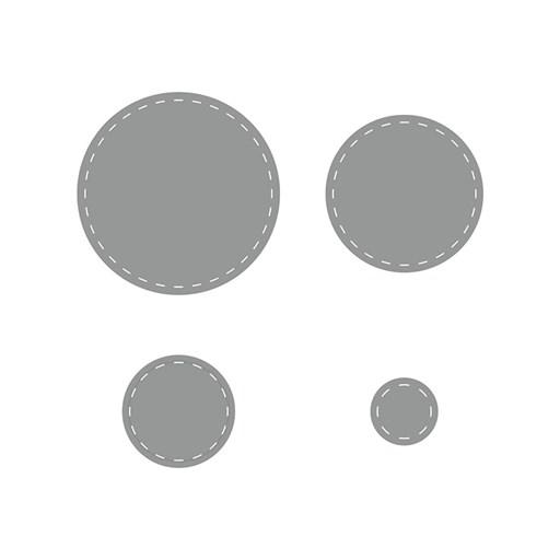 Stitched Circles Thin Cuts (Z4181)