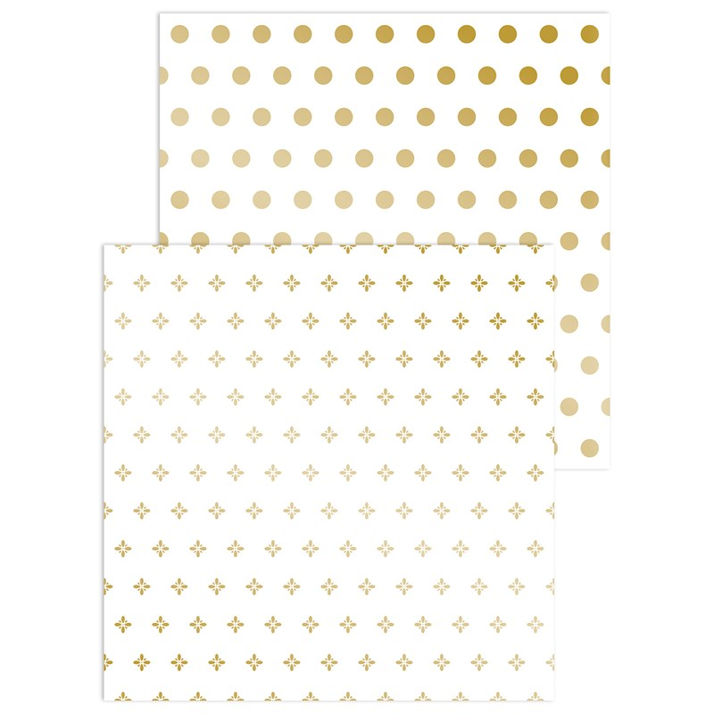 Gold Foil Patterns Paper Packet