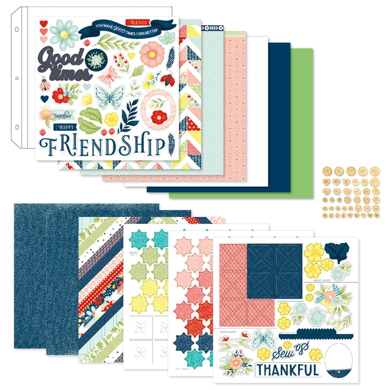 Stitched Together Scrapbooking Workshop Kit