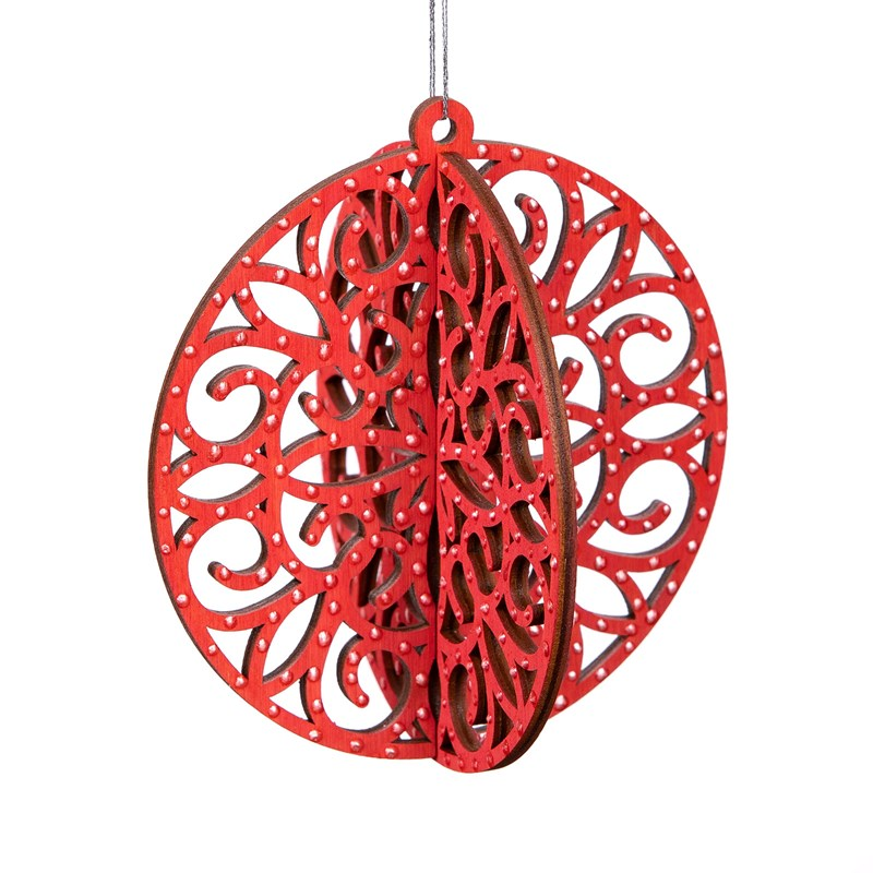 3-D Round Wood Ornaments