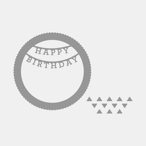 Happy Birthday Shaker Window Thin Cuts (Z3625)