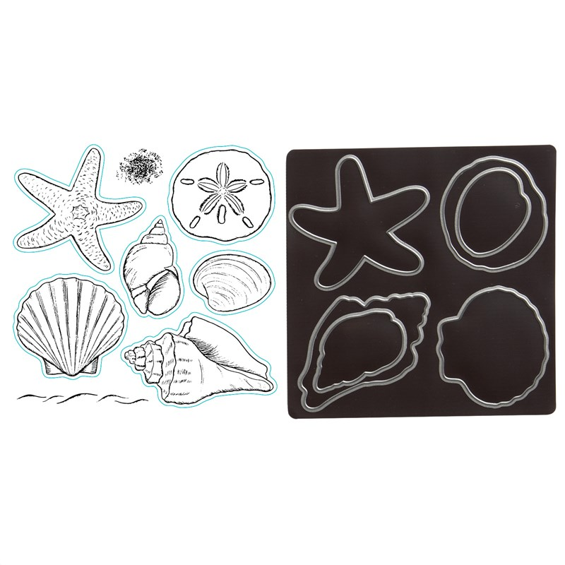 Beach Treasures Stamp + Thin Cuts