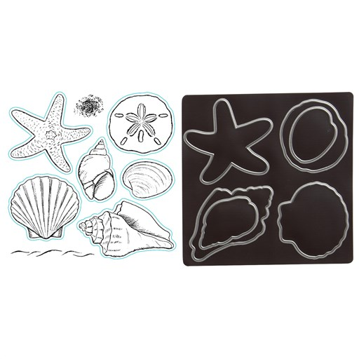 Beach Treasures Stamp + Thin Cuts (Z4076)