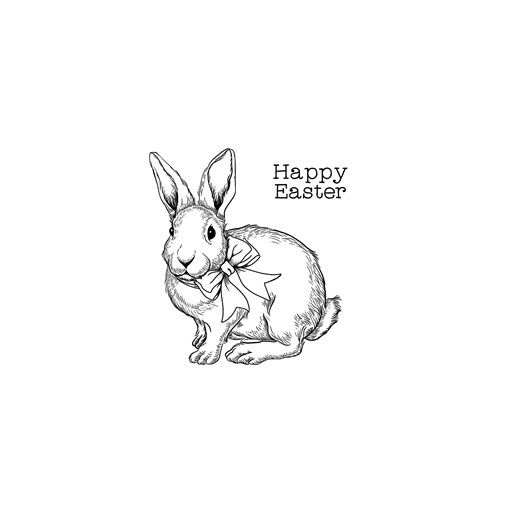 Happy Easter Bunny (A1246)