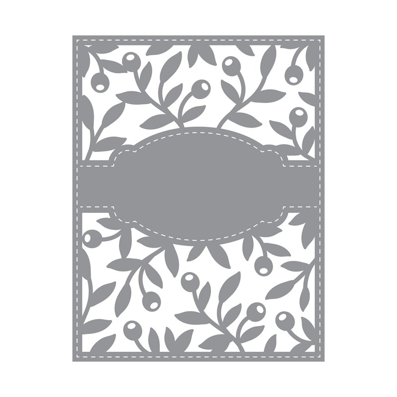 Olive Branches Background Thin Cuts